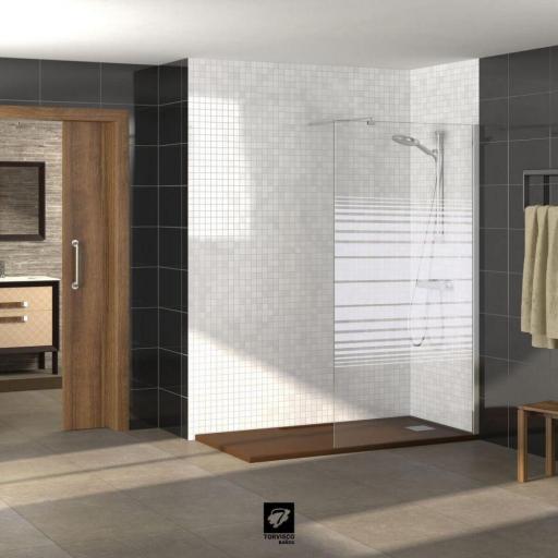 MODELO TV FIJO mampara fija para ducha. OFERTA [1]