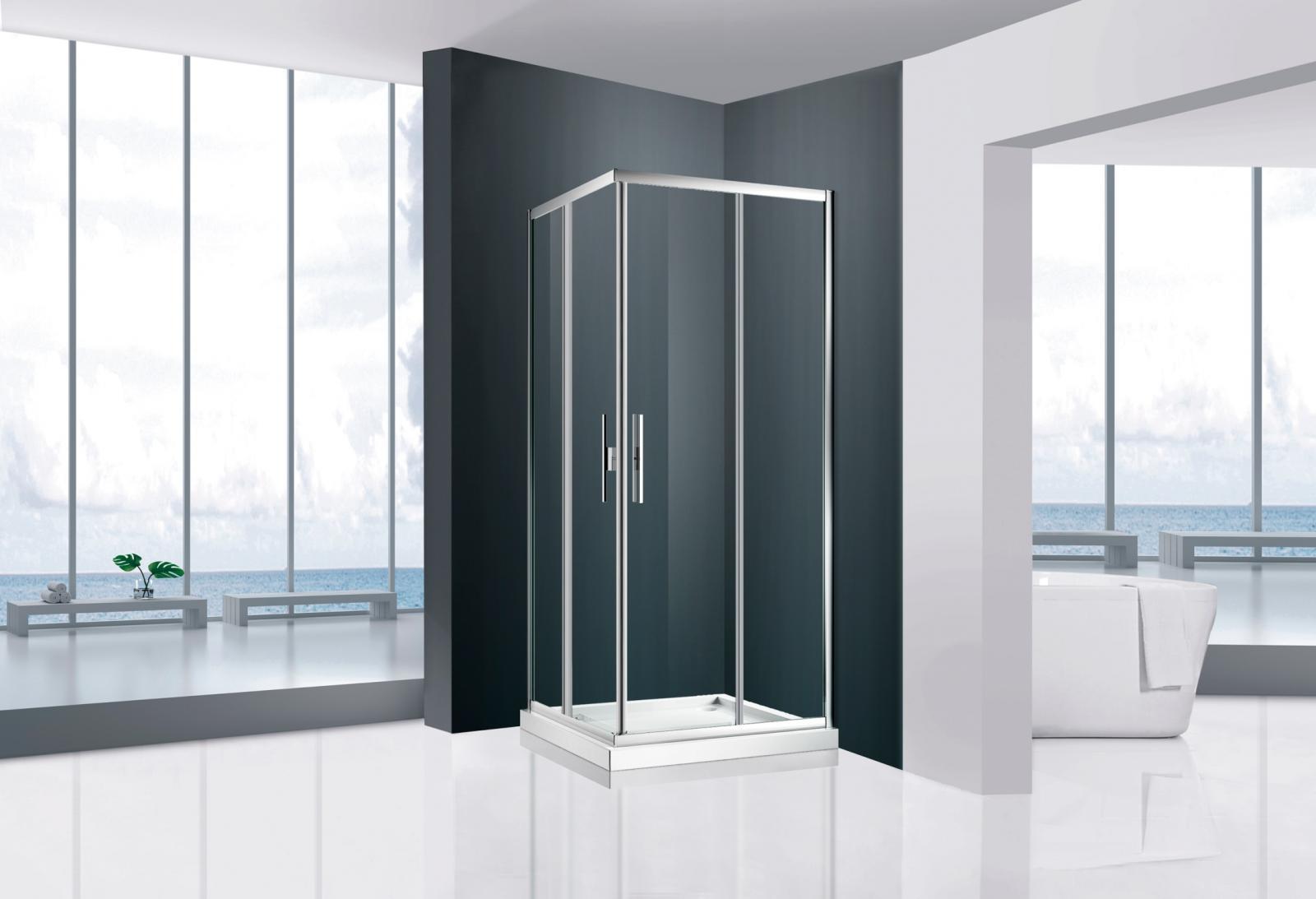 Mampara ducha, VTB 2+2, angular corredera, calidad a un precio muy económico