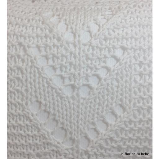 Cojín Crochet rectangular blanco [2]