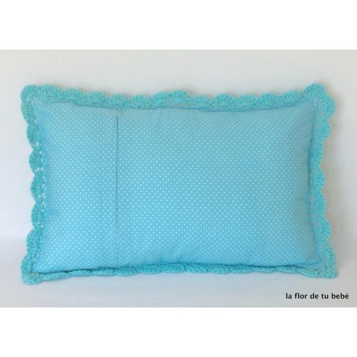 Cojín Crochet rectangular Turquesa [1]