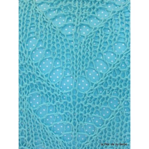 Cojín Crochet rectangular Turquesa [2]