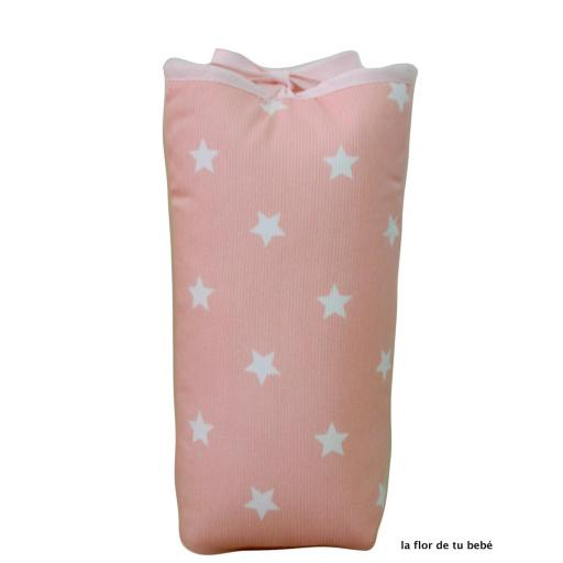 Portabiberones bebé. Serie Pink Star.
