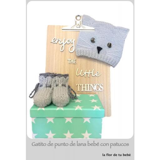 GORRO GATITO Y PATUCOS Modelo BABY CAT. [1]