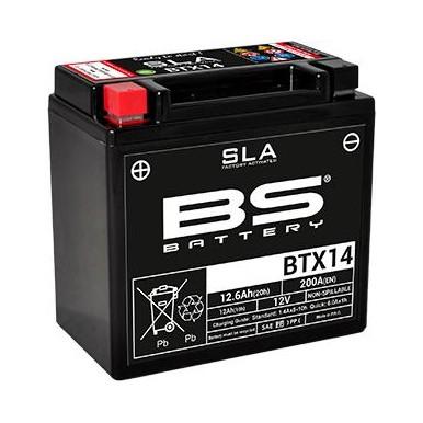Batería de Moto BTX14 SLA BS Battery