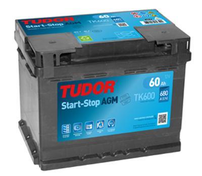 Batería de Coche TUDOR TK600 AGM 60Ah