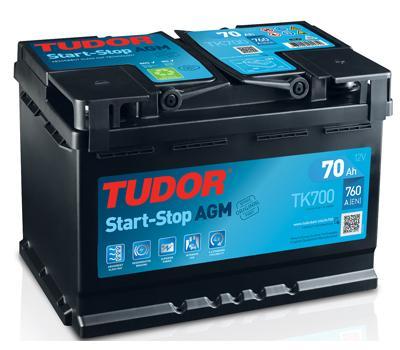Batería de Coche TUDOR TK700 AGM 70Ah