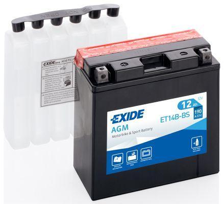 Batería de Moto EXIDE ET14B-BS (YT14B-BS)