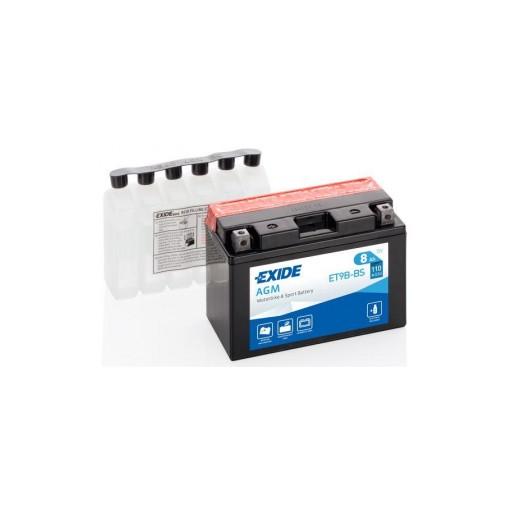 Batería de Moto EXIDE ET9B-BS (YT9B-BS)
