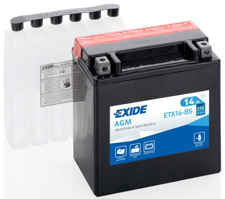 Batería de Moto EXIDE ETX16-BS (YTX16-BS)