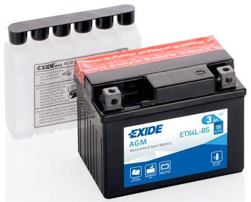 Batería de Moto EXIDE ETX4L-BS (YTX4L-BS)