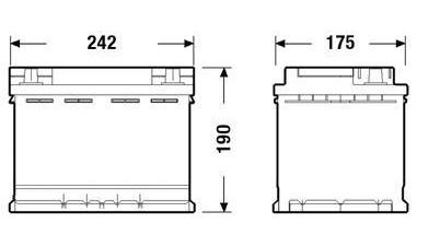 Batería de Coche TUDOR TK600 AGM 60Ah [1]
