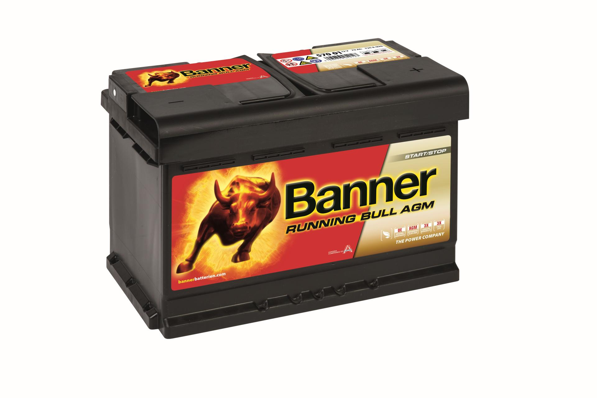 Batería de Coche BAnner AGM570 70Ah