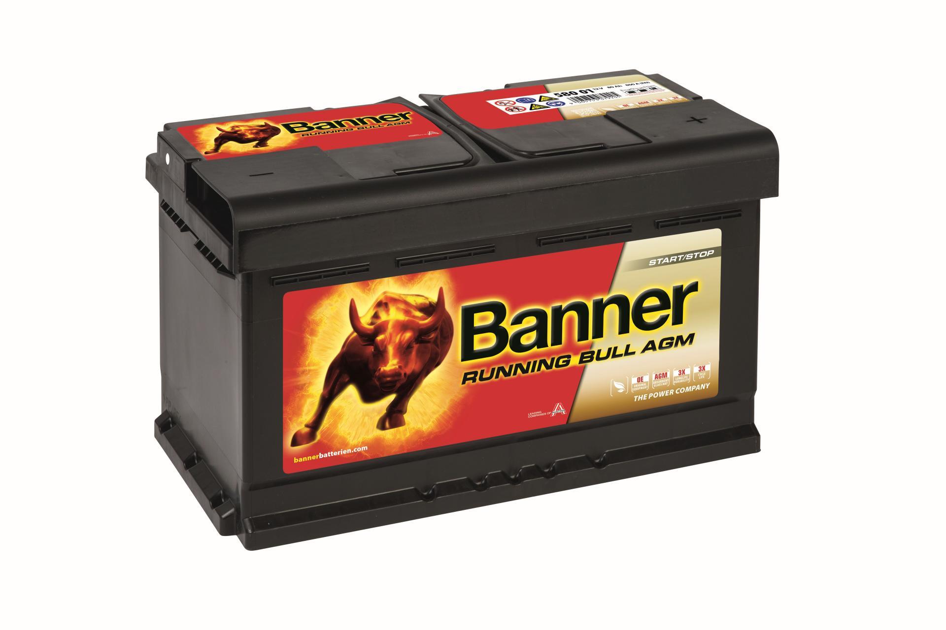 Batería de Coche BAnner AGM580 80Ah