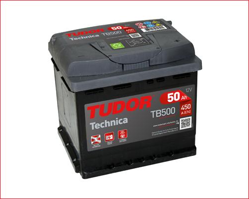 Batería de Coche TUDOR TB500 50Ah