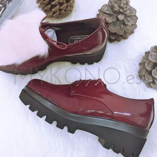 Zapatos Wine Red
