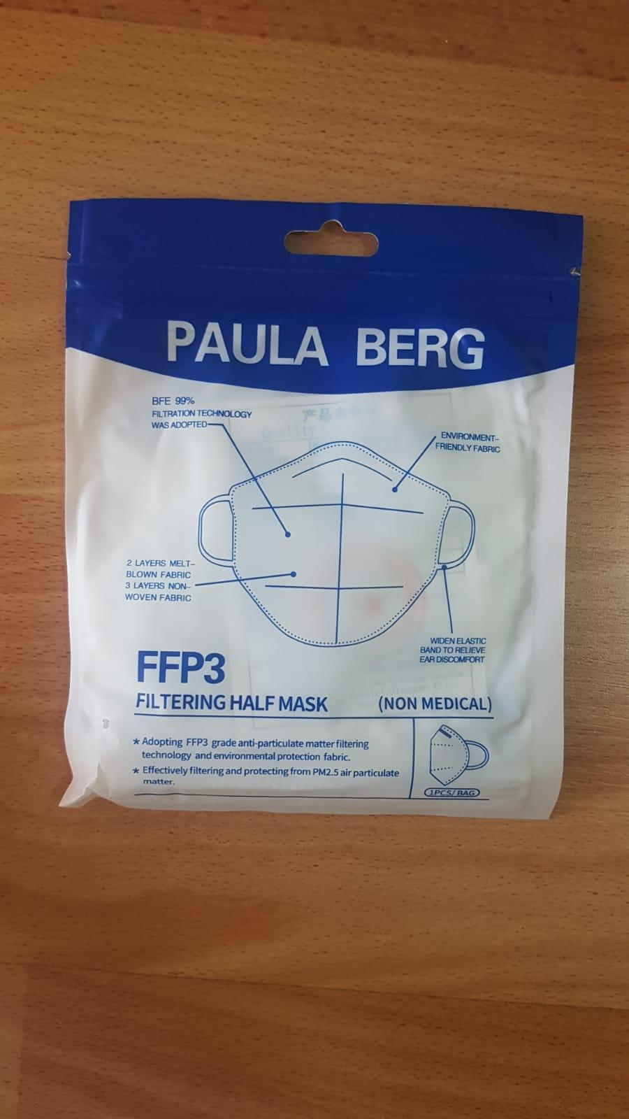 Mascarilla FFP 3 Blancas, Adulto