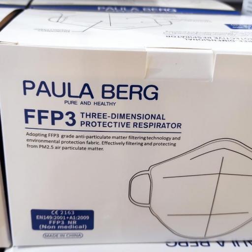 Caja 20 unidades mascarilla FFP3 color Blanco,  Adulto [1]