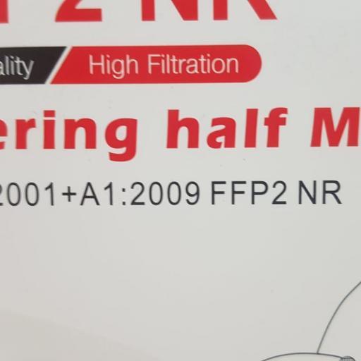 Mascarilla FFP2 Caja 20 Unidades Blanco Adulto [2]