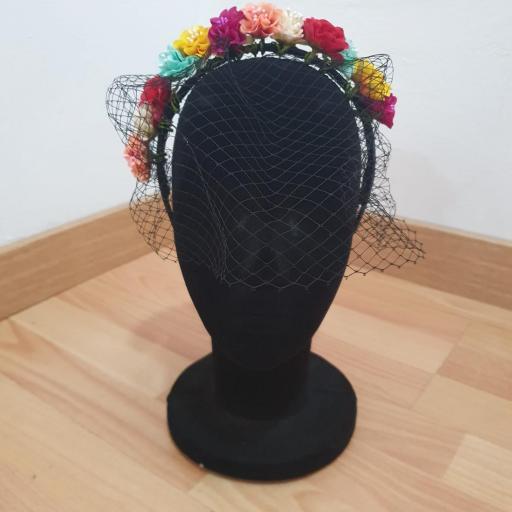 Diademas Flores con Redecilla [1]