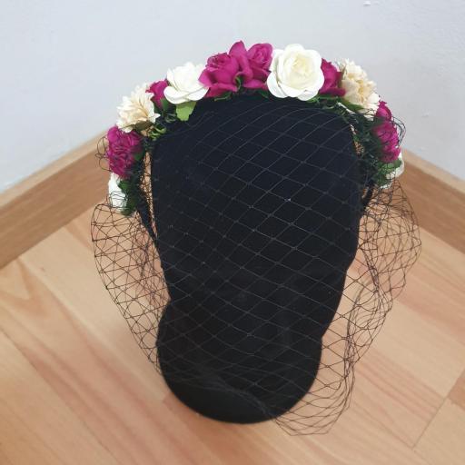 Diademas Flores con Redecilla [2]