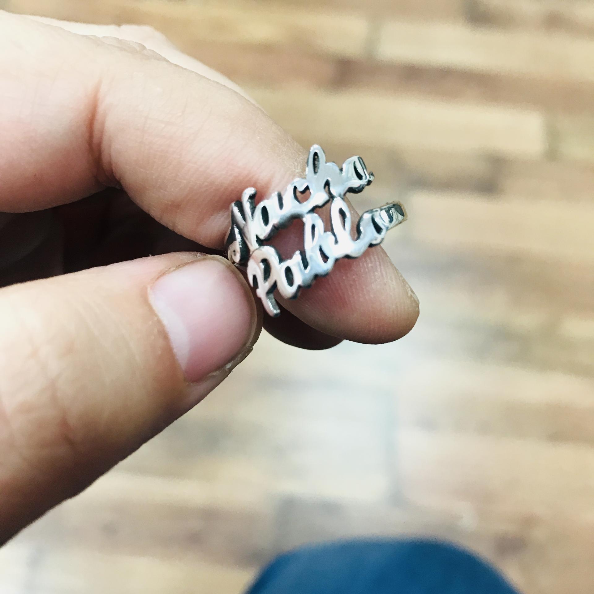 Anillo doble personalizado en plata