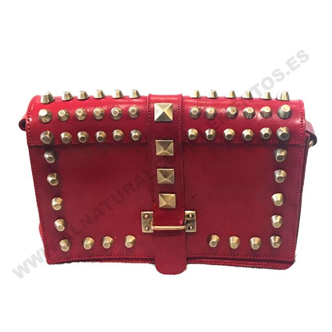 Bolso de tachas Rojo