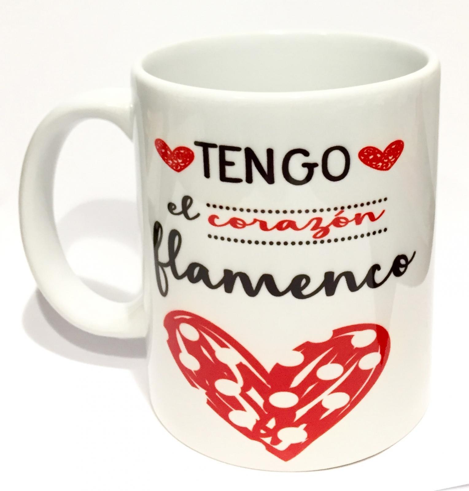 Taza Tengo el corazón flamenco