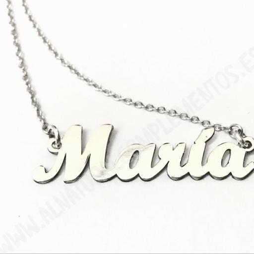 Collar Personalizado Nombre en plata [1]