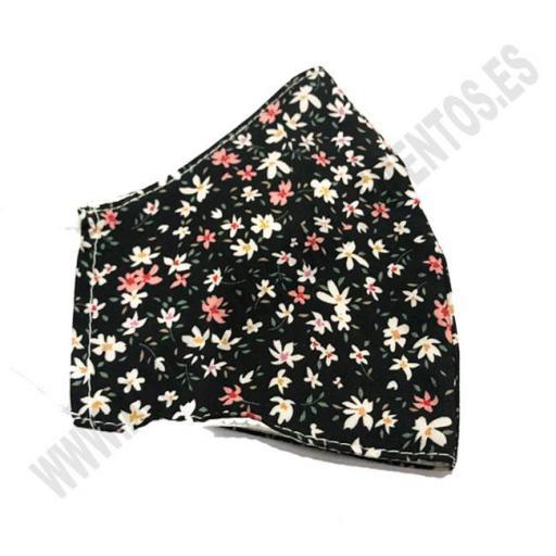 Mascarilla Flower Black [1]