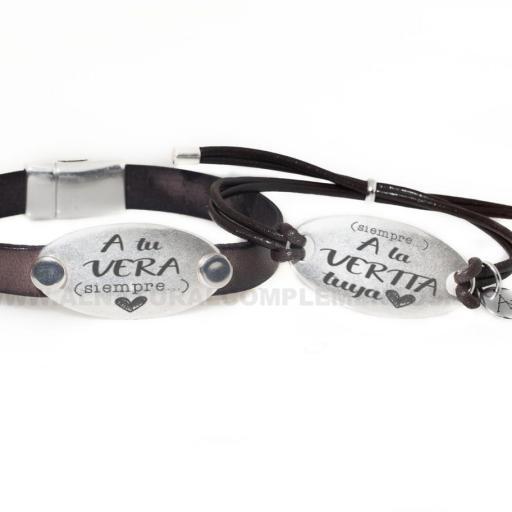 Conjunto pulseras personalizadas San Valentín