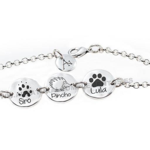 Pulsera personalizada con mascotas