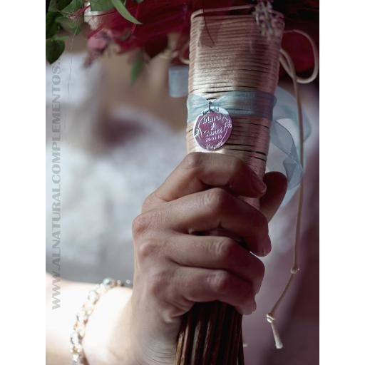 Chapa personalizada para ramo de novia [1]