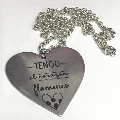 Colgante Tengo el Corazón flamenco