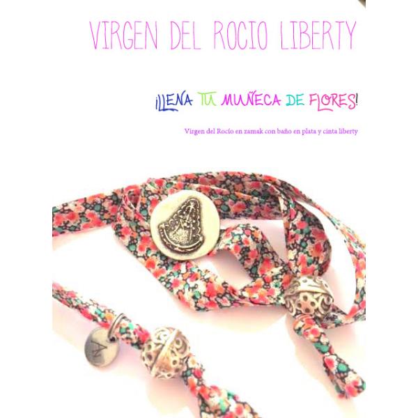 Pulsera Virgen del Rocío estampado Liberty