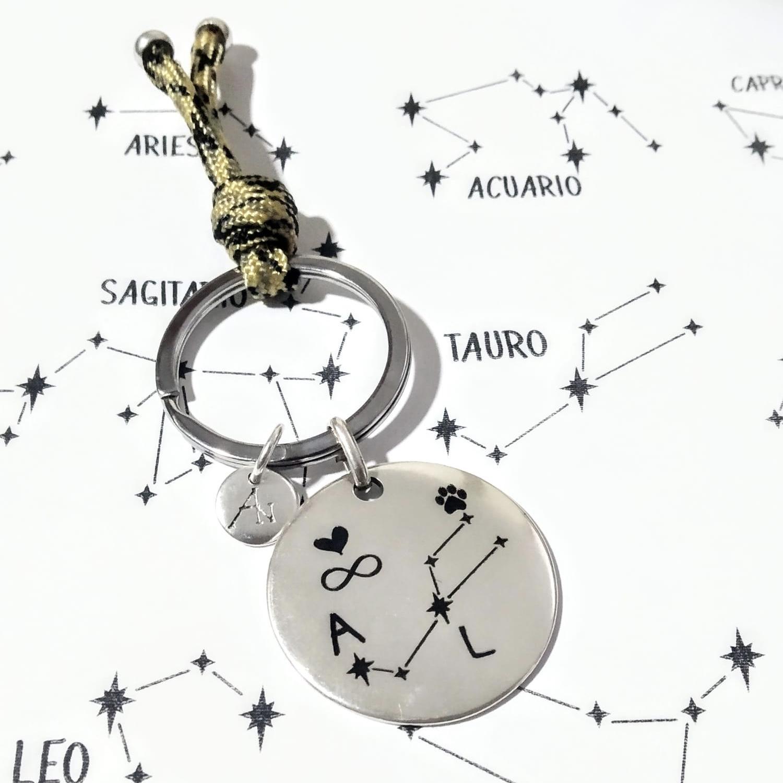 Llavero Constelación Personalizada
