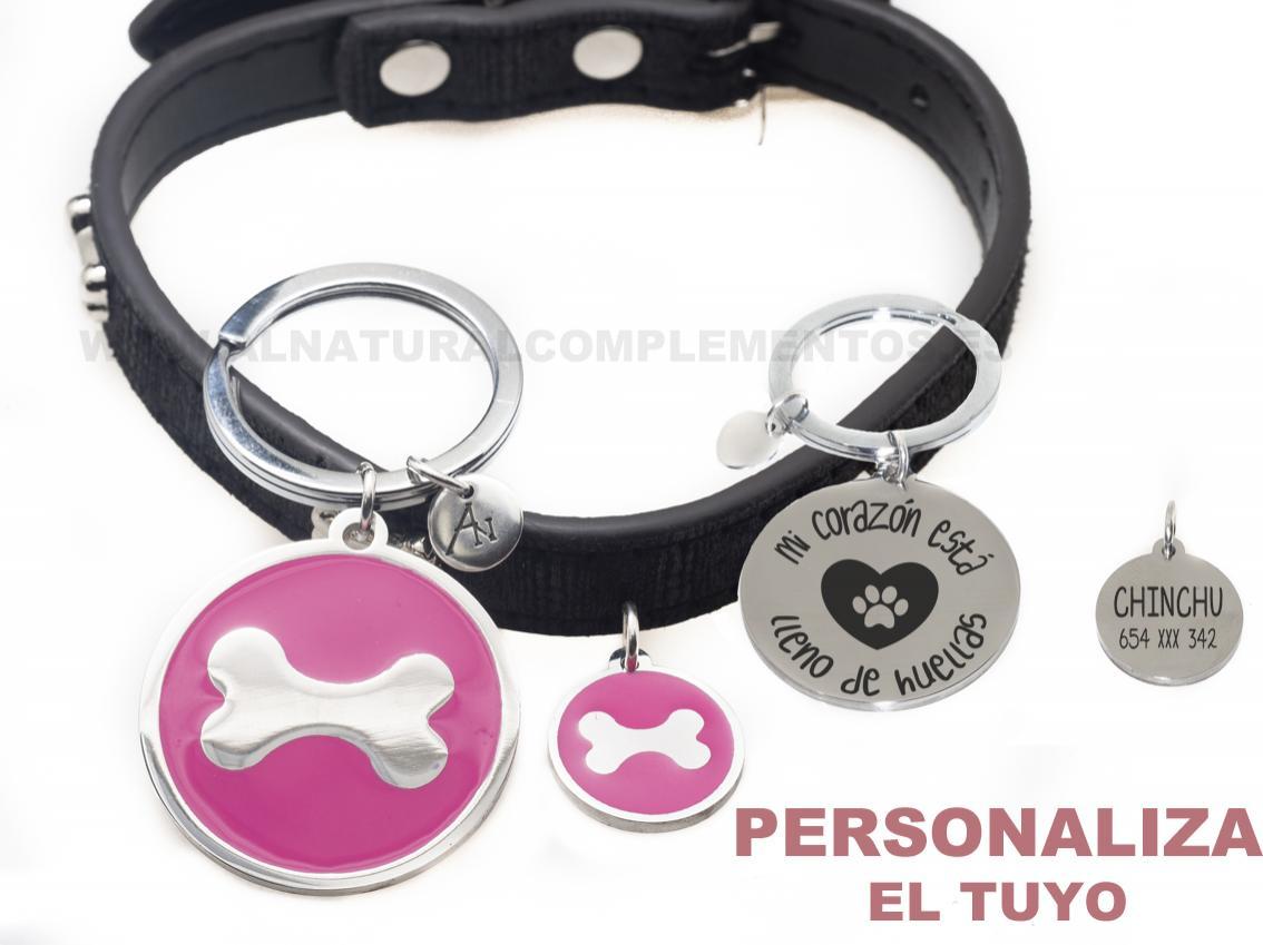 Pack Llavero y chapa personalizada para mascotas