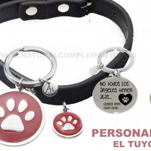 Pack Mascotas: llavero personalizado más placa personalizada mascota [2]