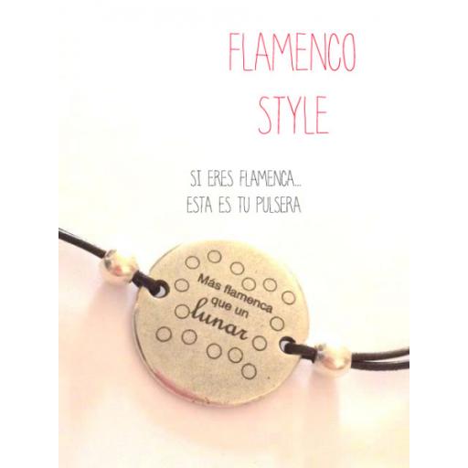 Pulsera Más flamenca que un lunar