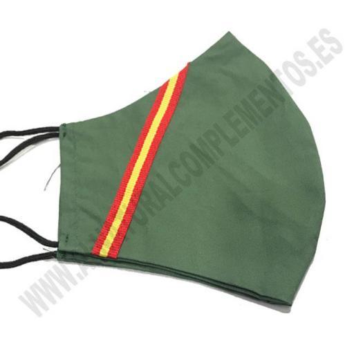Mascarilla Bandera de España Verde [1]