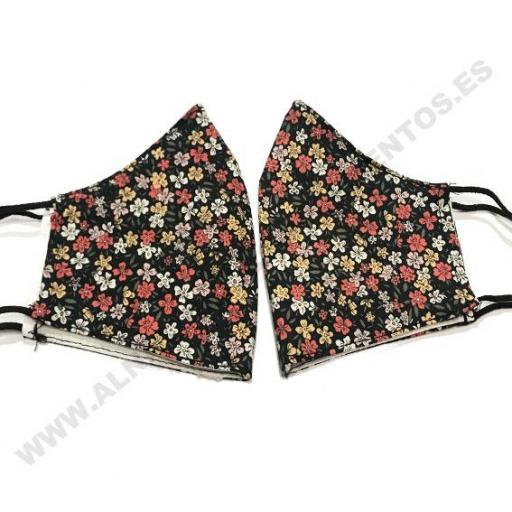Mascarilla flores Liberty Black [1]