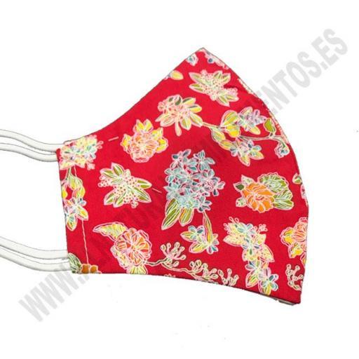 Mascarilla Estampado Flower Red [1]