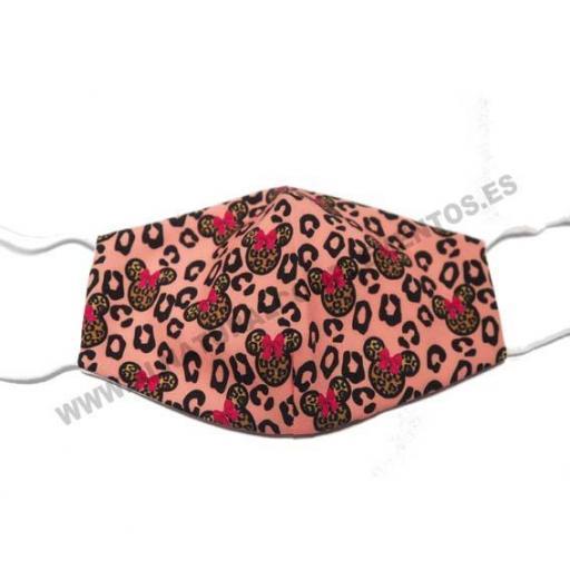Mascarilla Leopardo rosa