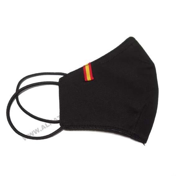 Mascarilla Bandera de España negro