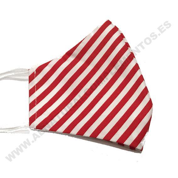 Mascarilla Stripes rojo