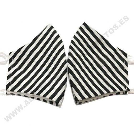 Mascarilla Stripes negro [1]