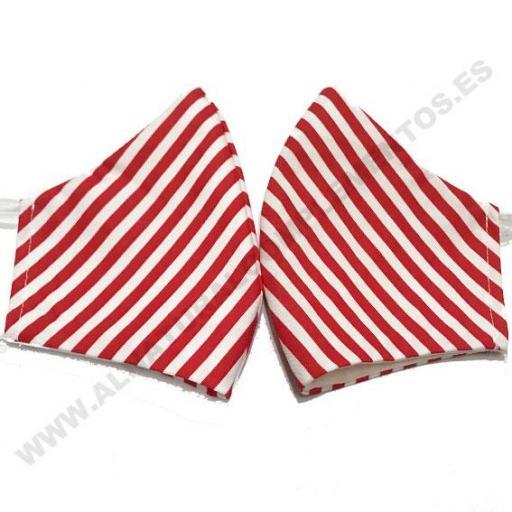 Mascarilla Stripes rojo [1]