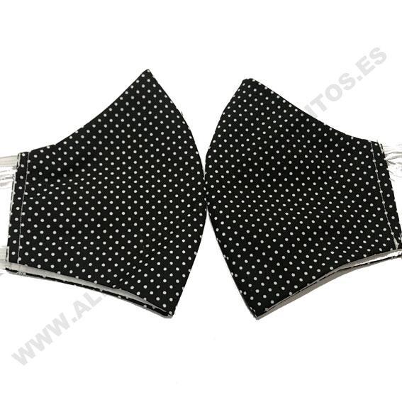 Mascarilla mini dots negro