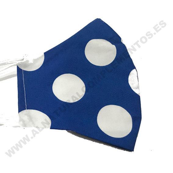 Mascarilla Topos Grandes azul