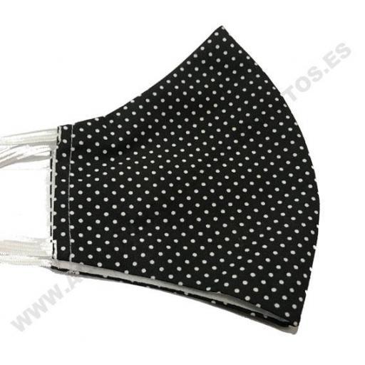 Mascarilla mini dots negro [1]