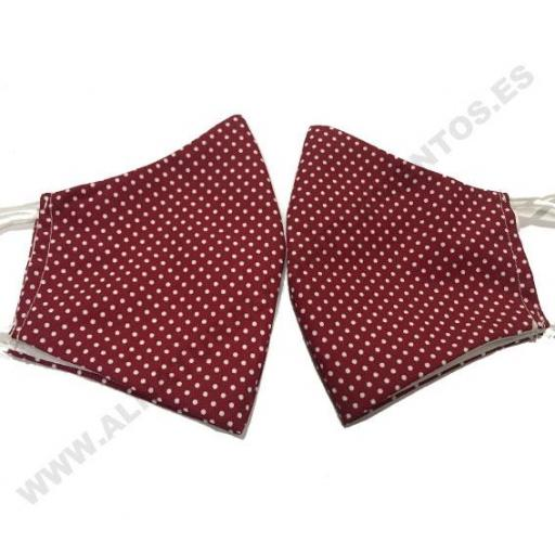 Mascarilla mini dots rojo